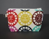Zippered Pouch Large / Wristlet Case / Change Purse / Small Bag / Cosmetic Case / Pouch - Viewfinder Multi