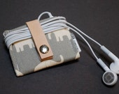 iPod Nano Case 6th Generation / iPod Nano Case with Leather Strap / iPod Shuffle Case - Elephant Gray - RogueTheory