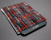 Nook Glowlight Plus Case / Kindle Paperwhite Case / Kobo Aura One Case / Kindle Oasis Case - Charcoal Grid