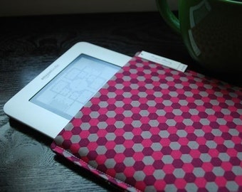 Kobo Glow HD Case / Kindle Paperwhite Cover / Nook Glowlight Plus / Kindle Voyage Cover / Kindle 3 Case / Kindle Touch - Geo Mulberry