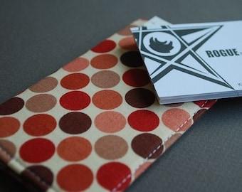 Business Card Case  / Card Holder / Credit Card Holder - VERT I - Dot Delight
