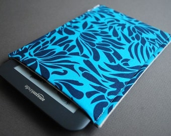 kindle oasis case / Kindle Touch Cover /  Kindle Paperwhite Cover / Nook HD Plus Case / Nook Tablet Case - Bouquet Indigo