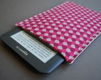 Nook Tablet Case / Nook Glowlight Plus / Kindle Paperwhite Sleeve / Kindle 7 Cover / Kobo Glow HD - Geo Mulberry