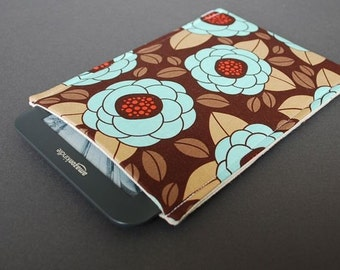 Nook Color Case / Nook Tablet / Galaxy Tab Nook / Nook Glowlight Plus Sleeve - Vintage Flower Brown