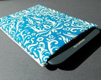 Kindle Paperwhite Cover / Nook Glowlight Case / Kobo Glo HD Case / Kindle Paper white Case - Damask Ocean Blue