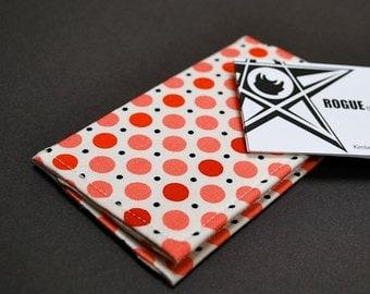 Business Card Case  / Card Holder / Credit Card Holder - VERT I - Simple Dot Pinks