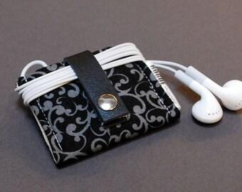 iPhone 6 Case / iPod Nano Case / iPhone Case / All Nano Generations / Galaxy Note Edge Case - Swirl Black Gray