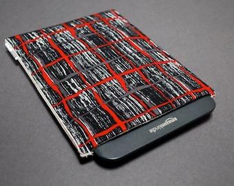Nook Case / Kindle Case / Kobo Case / eReader Cases - Charcoal Grid