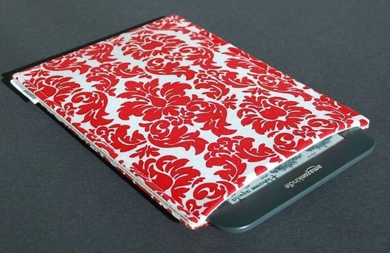 Nook Glowlight Plus Case / Nook Glowlight Plus Sleeve / Nook Glowlight Plus Cover - Damask Red