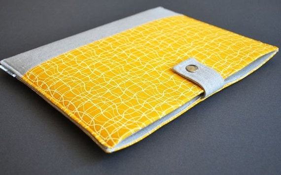 13 MacBook Case / 13 MacBook Air Case / 13 MacBook Pro Case / MacBook Cover / MacBook Sleeve / MacBook Case / Holder - Yellow Wave