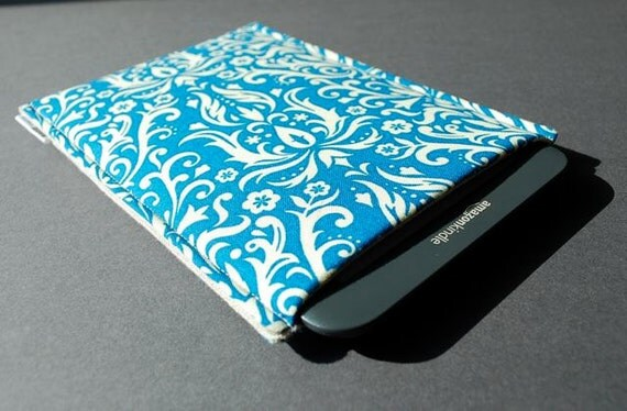 Kindle Paperwhite Cover / Nook Glowlight Case / Kobo Glo HD Case - Damask Ocean Blue