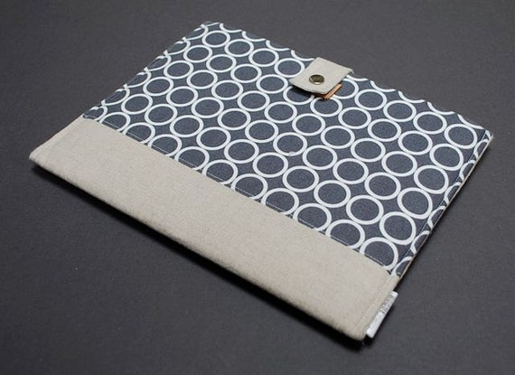 13 MacBook Case / 13 MacBook Air Case / 13 MacBook Pro Case / MacBook Cover / MacBook Sleeve / MacBook Case / Holder - Modern Circles Gray