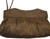 Handmade Clutch - Handmade Handbag in shimmery gold and black stripe