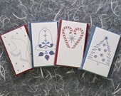 Sale - Letterpress Gift Card Sets - Combo of 4 sets of 6 cards each with envelopes