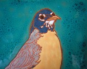 American Robin tile, Arts and Crafts, Mission style, Birders, Kitchen,Bath, Fireplace Surround, or Framed