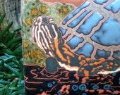 Sun Turtle  tile -CUSTOM ORDER -allow 4-6 wks production time-