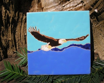 Bald Eagle tile-CUSTOM ORDER -allow 4-6 wks production time-