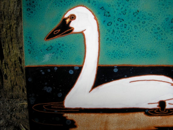 Tundra Swan bird tile, Arts and Crafts, Mission style birders,kitchen,bath, fireplace surround or frame