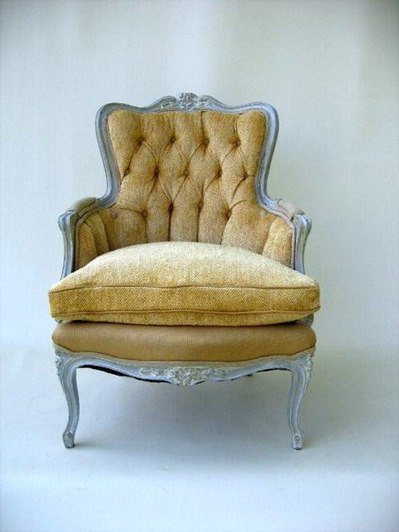 Yellow French Bergere Chair