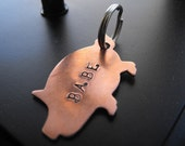 Piggy Pet tag or Keychain