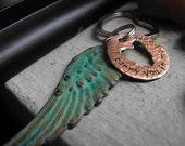 Your Wing on my Heart Keychain