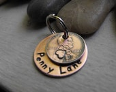 Lucky Penny dog tag and 1inch copper