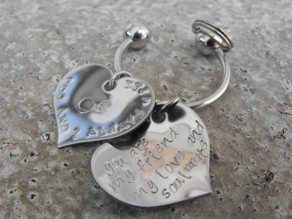 Reserved for EDEN  4 Hearts Soulmates keychain