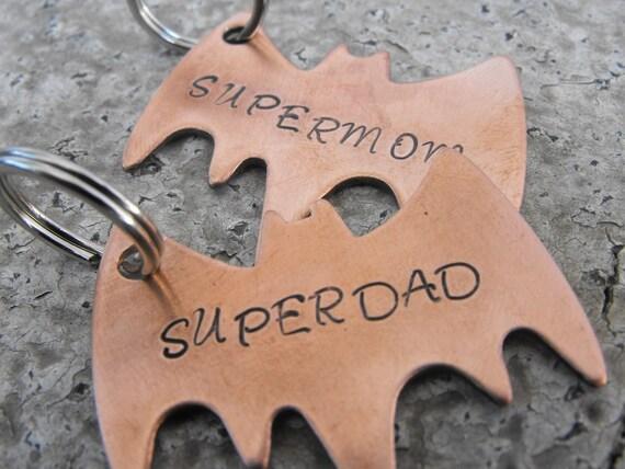 My Hero SuperDad Or SuperMom keychain