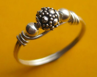 Bali Sterling Silver Ball Ring