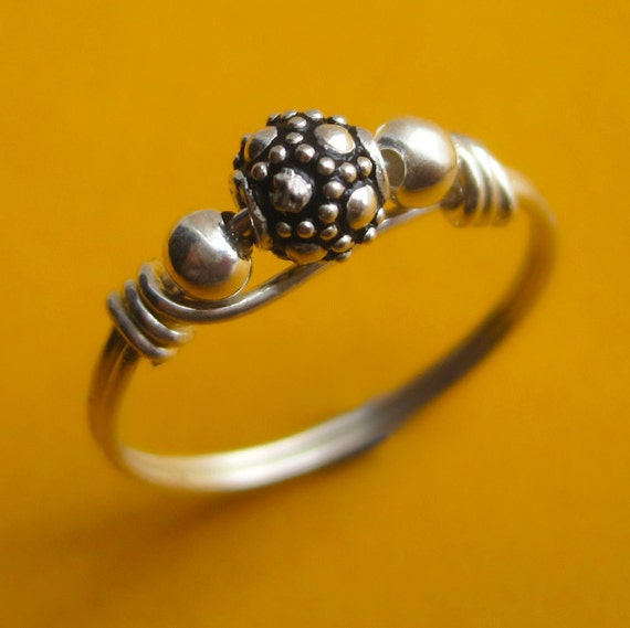 Bali Sterling Silver Ball Ring
