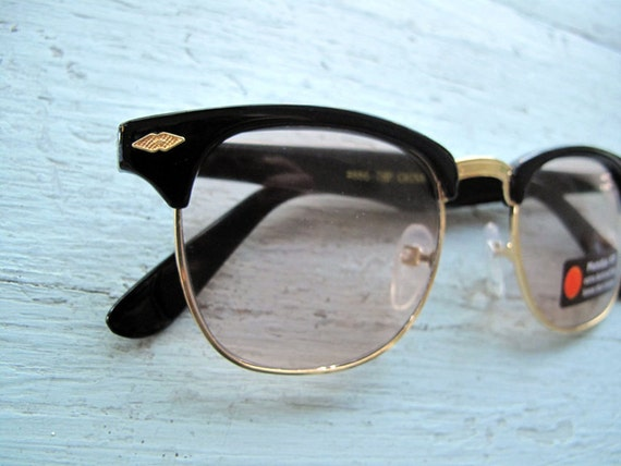 Vintage 80s Browline clear sunglasses