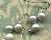 Natural Pearls Earrings in mint Green Sale