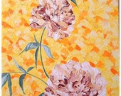 Original Oil Painting 18 inches  by 24 inches, Just One Sunny Moment, Floral heavy textural Painting