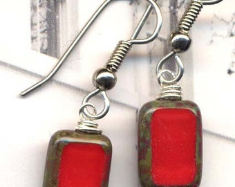 Earrings in Scarlet Red . Great addition for my best seller necklaces))