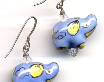 Sterling Silver Elephants Earrings, Earrings De Elephants, Elephant Jewelry, Safari Earrings, Sterling Silver Earrings by AnnaArt72