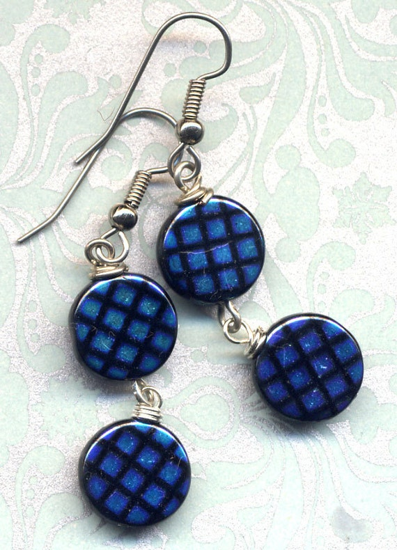 Earrings made with Vintage Czech beads