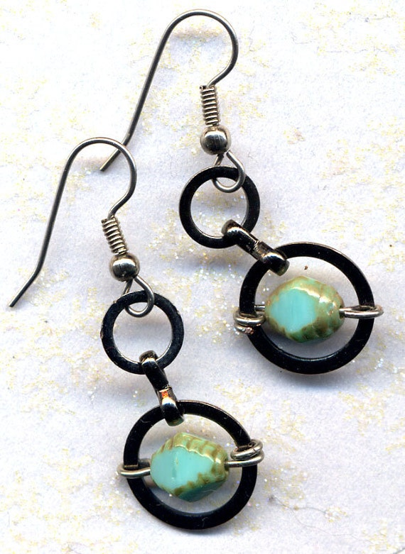 Turquoise Earrings, Surgical steel earrings,  Perfect Earrings for my New Multicolor Style Necklace