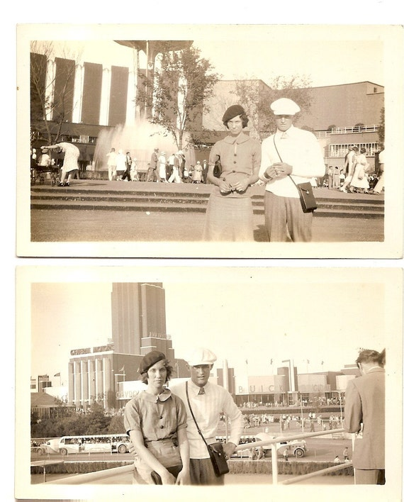 Vintage Photos Chicago Worlds Fair Man Camera Woman Lot 2