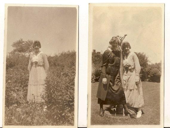 2 vintage photo lot Edwardian Women Dress Shoe Fashion antique SALE SALE SALE