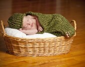 My Little Pea in the Pod Cocoon Set - Awesome Baby Gift or Photography Prop - MADE TO ORDER