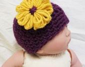 Sweet Flower Baby Hat