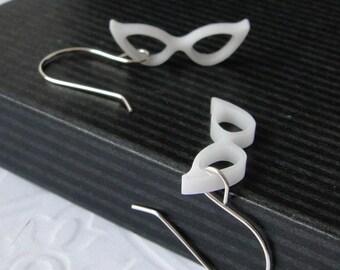 Maude's Eyeglasses Earrings in White
