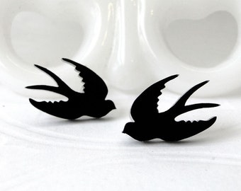 Swallow Post Earrings