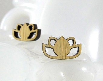 Lotus Studs in bamboo