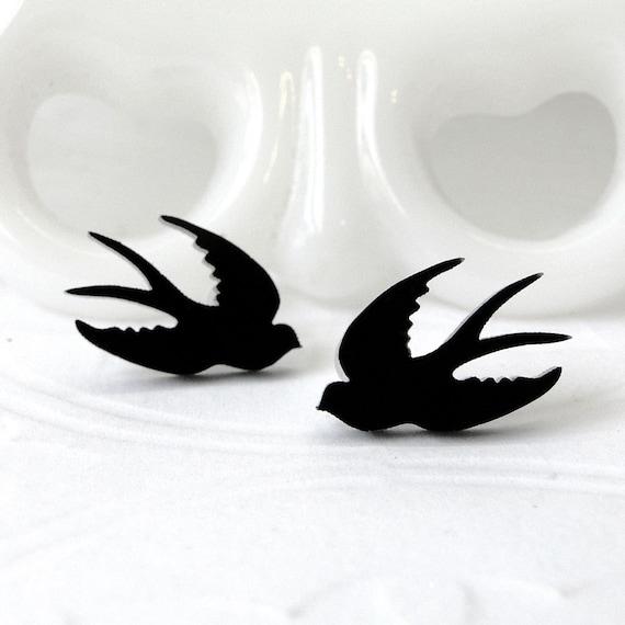 Swallow Post Earrings