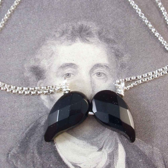 Jeweled Mustache Necklace