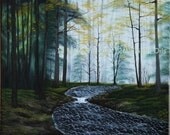 Into The Clearing  Original Landscape Oil Painting