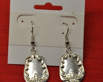 Grand Elegance Silver Spoon Earrings