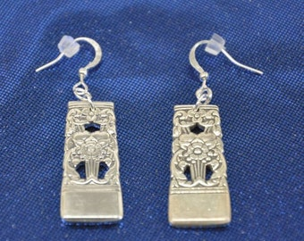 Coronation  Silver Spoon Earrings