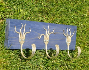 Funky Fork Rack Stained Blue